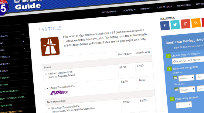 I-95 Tolls Feature Updated Including E-ZPass
