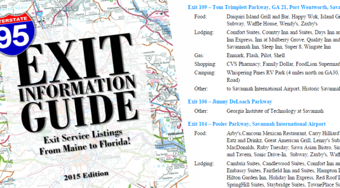 I-95 Exit Information Guide - 2015 - eBook (pdf) Edition