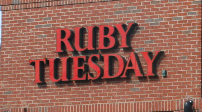 Ruby Tuesday | I-95 Exit Guide