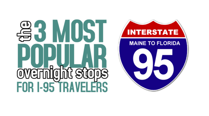 Top 3 Overnight Stopover Cities for I-95 Travelers