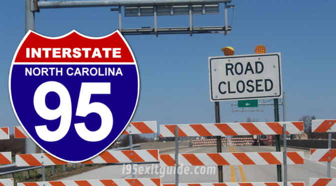 I-95 Northbound Detour in North Carolina After Bridge Damaged