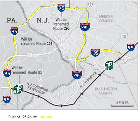 Current I-95 and I-295 Designation | I-95 Exit Guide